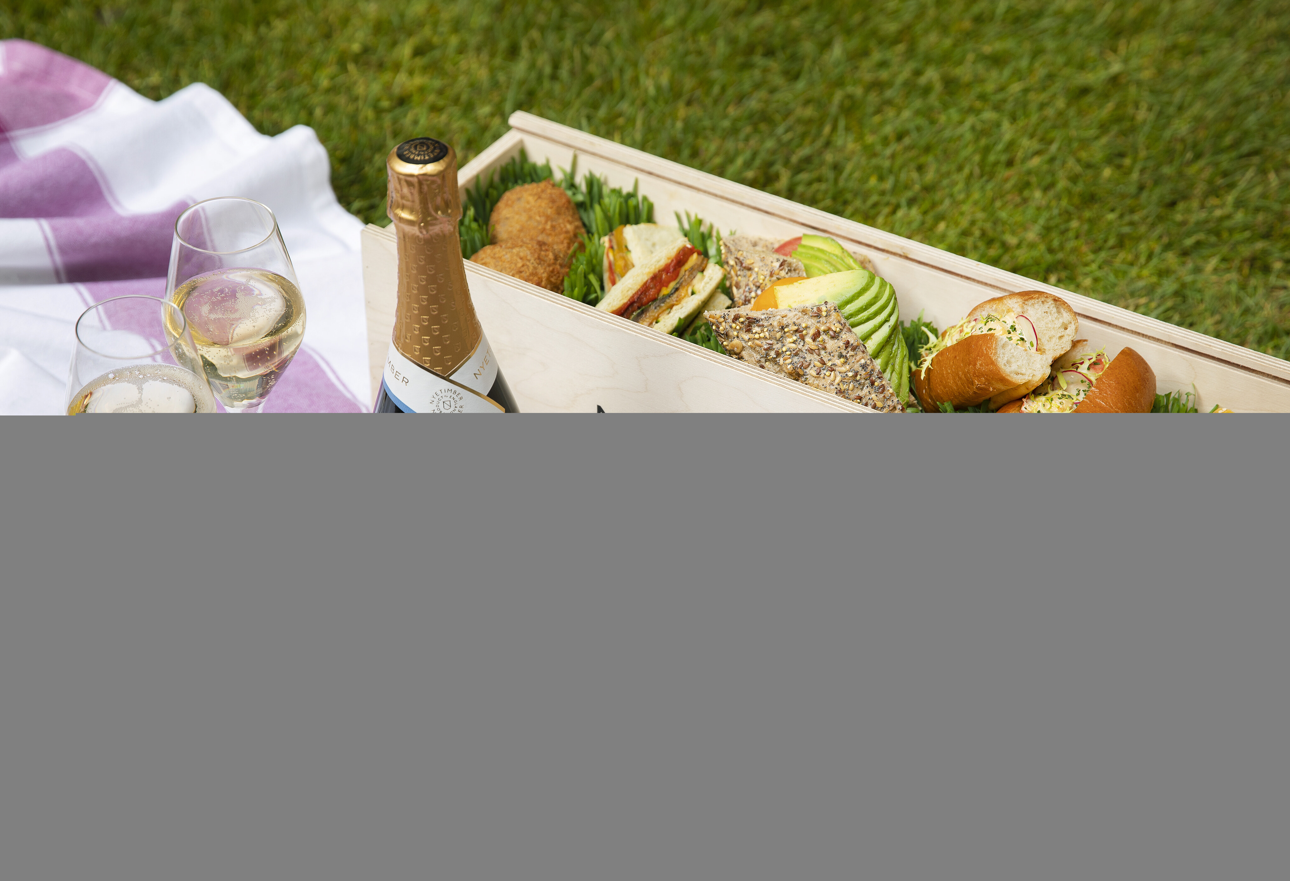 Proms Picnic at The Nyetimber Secret Garden at Rosewood